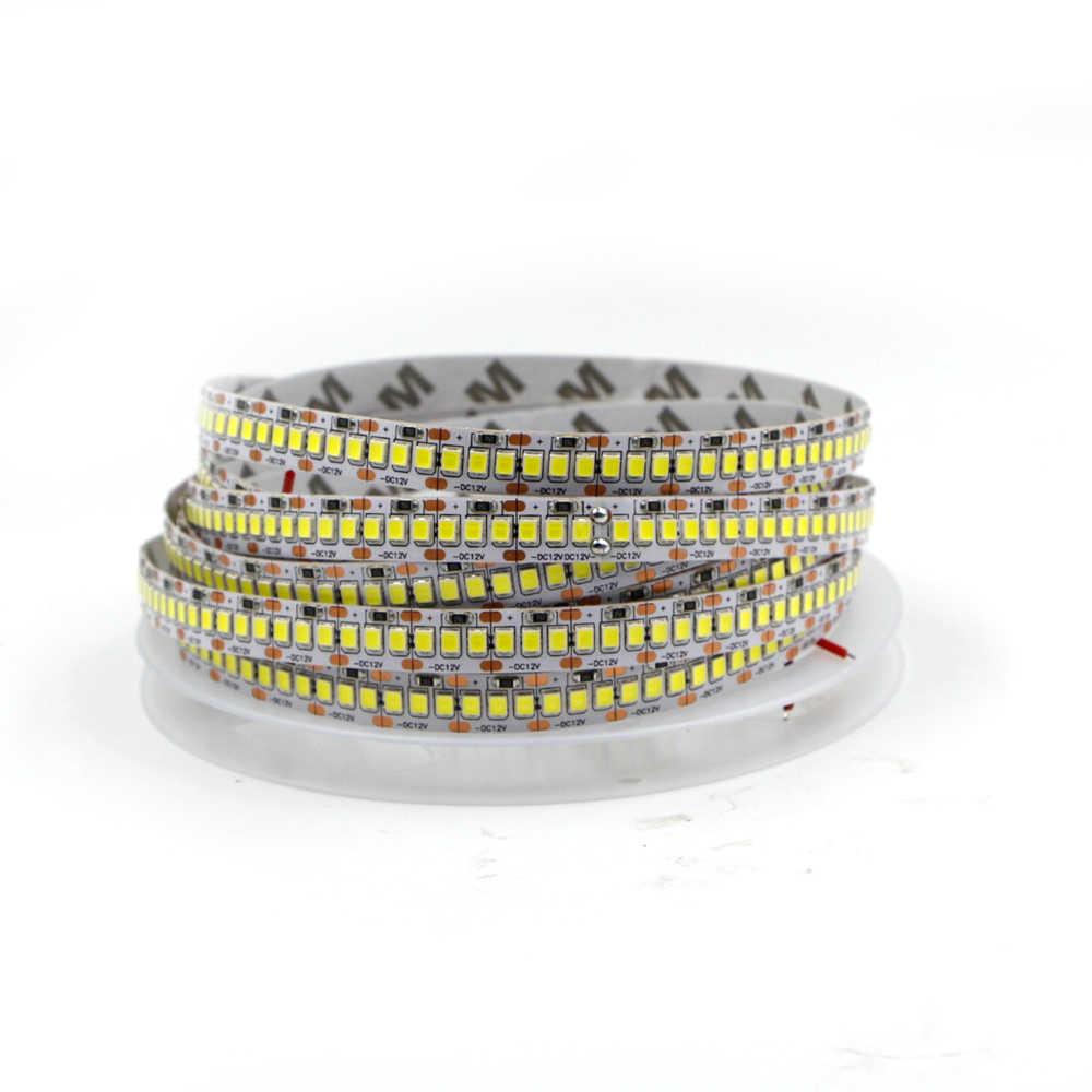 5 м светодиодный светильник 240 светодиодный s/m 480 светодиодный s/m 12 в 24 В 2835 Светодиодный светильник двухрядный водонепроницаемый белый/теплый белый гибкий ленточный светильник