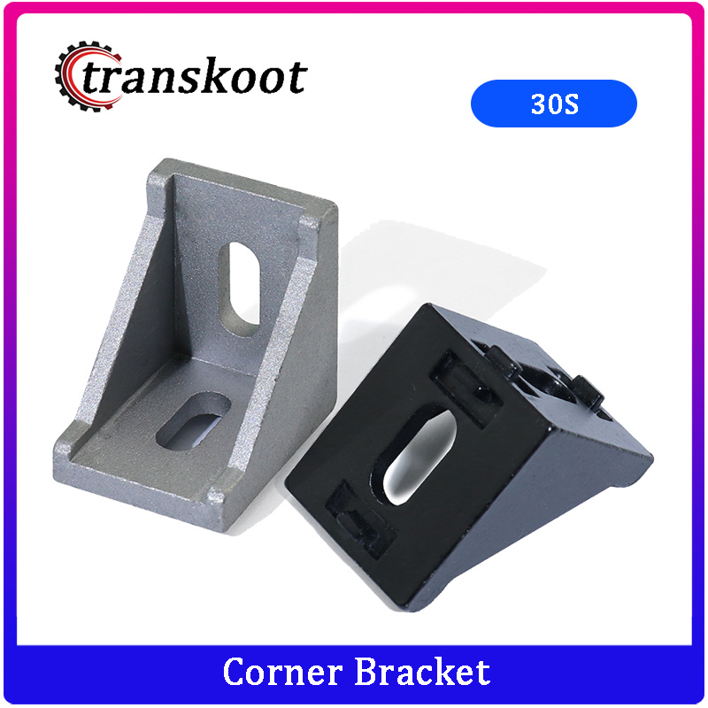 10pcs Of 3030 Corner Fitting Angle 30x30 Decorative Brackets Aluminum Profile Accessories L Connector Fasten Connector