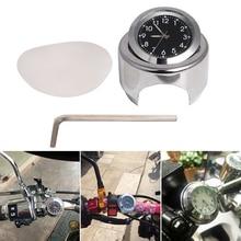 """7/"""" 1"""" руль мотоцикла хромированный циферблат кварцевых часов светящиеся часы для Yamaha Honda Suzuki для Harley Kawasaki KTM BMW и т. д"""