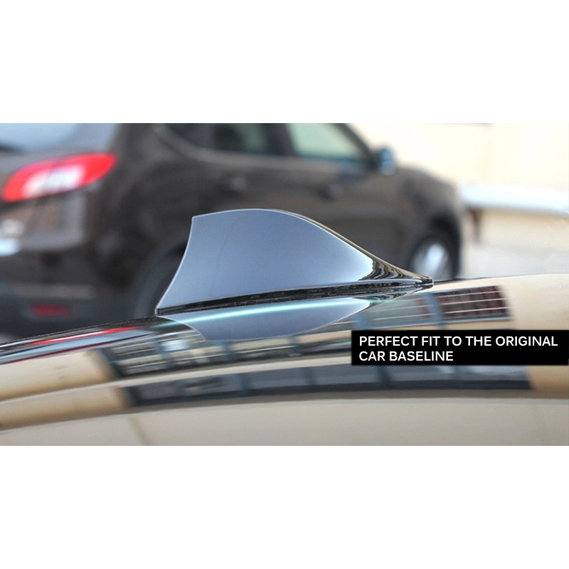 Classic Silver Super Shark Fin Car SUV Roof Antenna With FM//AM Connection Cable