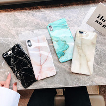 Ultra thin slim girls black pink marble phone cover For Apple iPhone 8 plus case X XR XS MAX 7 6 6s 11 Case pro