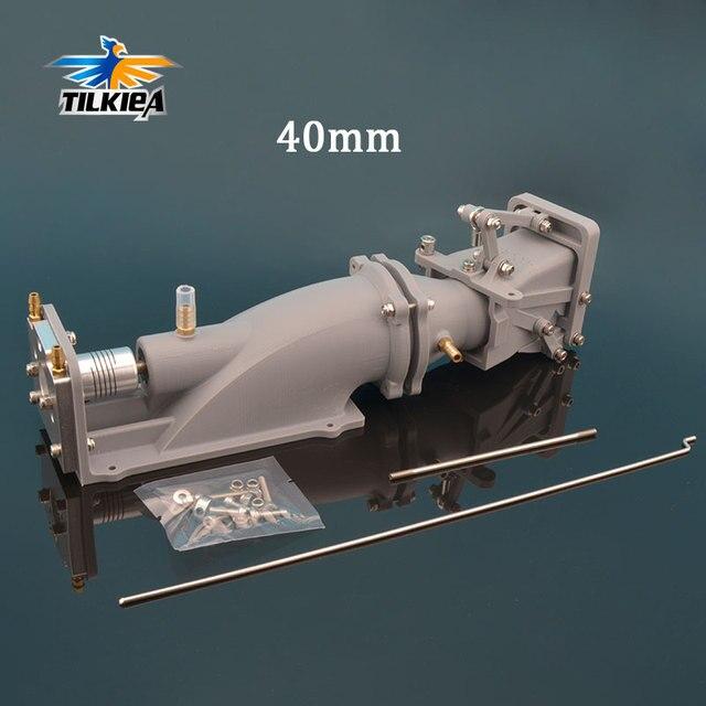 Impulsionador da bomba de barco a jato de água de 40mm, empurrador de água com sistema de reverso, hélice de 40mm, 5mm de eixo w/acoplamento para barcos de jato modelo rc
