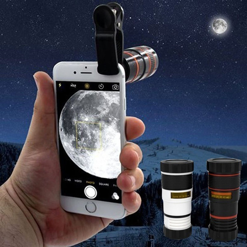 Phone Camera Transformer Universal 8X HD360 Zoom Optical Phone Telescope Camera Lens for Mobile Cellphones Hot 12X Gadget