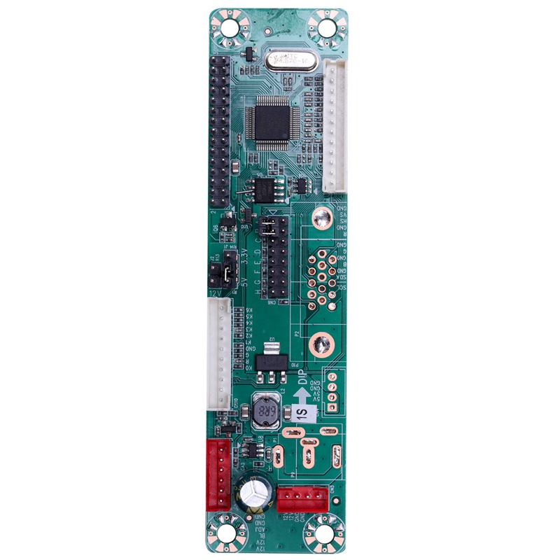 Universal Lcd Monitor Driver Board 12V Input Built-In 23 Programs Support 10-42 Inch Screen Mt6820-Md