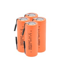 3.7V 2500mAh 18500 Li-ion batterie avec 2 onglets de soudage 18500 2500mAh Lithium Ion cellule pour lampe de poche Led phare mécanique(China)