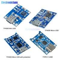 10 pz/lotto Mini Micro Tipo C USB 5V 1A 18650 TP4056 Caricatore di Batteria Al Litio Modulo di Ricarica Con Protezione due Funzioni