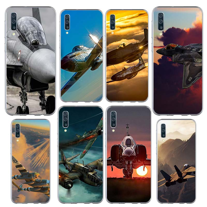 Aircraft Plane Airplane Case for <font><b>Samsung</b></font> Galaxy A50 A70 A70s A50s A90 5G A40 A30 A80 A20 A20e <font><b>A10e</b></font> Silicone Phone <font><b>Coque</b></font> image