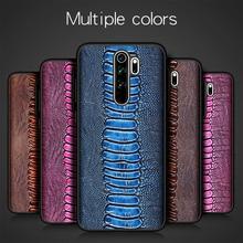 Luxo natural couro genuíno caso do telefone da pele capa para xiaomi redmi nota 8 pro note8 8pro global 6/8 64/128 gb xiomi pára choques