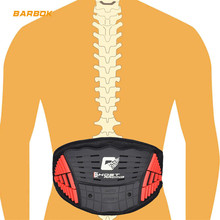 Breathable Motorcycle Spine Support Waist Protection Lumbar Rubber Protector Board Running Cycling Motocross Protective Gear