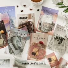 40pc Vintage Zeit Brief Serie Kugel Journal Dekorative Washi Aufkleber Flakes Scrapbooking Tagebuch Schreibwaren Aufkleber Ästhetischen