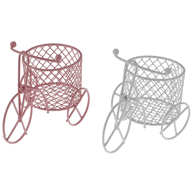 Cute Iron Tricycle Art Decoration Desk Stationery Container Storage Holder For School Office Supplies