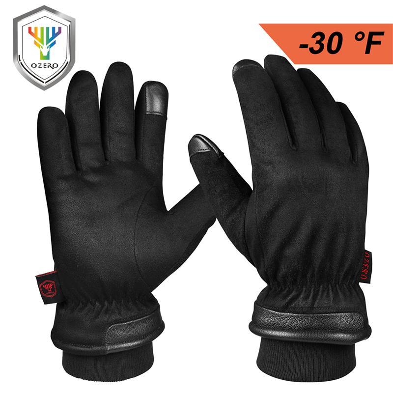 Водонепроницаемые зимние перчатки OZERO с сенсорным экраном и кончиками пальцев для вождения мотоцикла, термоподарок для мужчин в холодную п...
