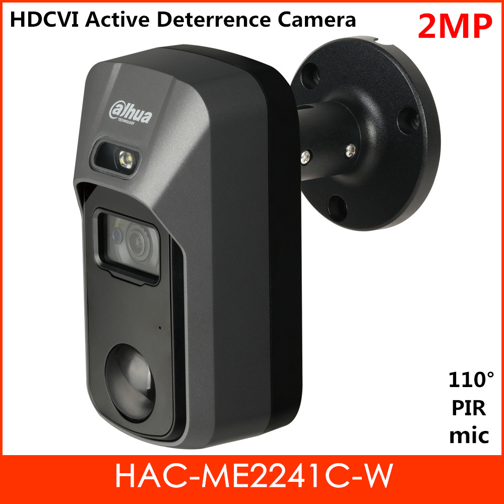 New Dahua 2MP Starlight HDCVI Active Deterrence Camera Built-in PIR and MIC Detecting range Waterproof IP67