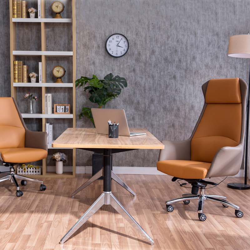 Tall Executive Office Boss Chair Leather Office Armchair Computer Chair Conference Task Furniture