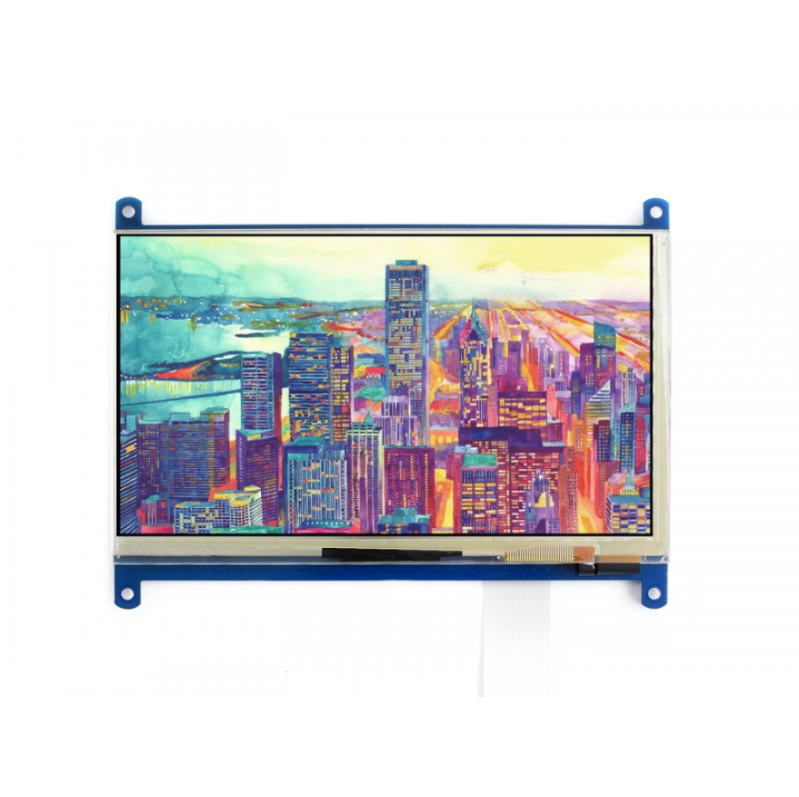 Waveshare 7inch Capacitive Touch LCD 1024*600 Multicolor Graphic LCD With Capacitive Touch Screen Stand-alone Touch Controller