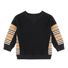 Toddler Girl Fall Clothes 2020 Baby Boy Clothes Icon Stripe Panel Cotton Sweatshirt Kids Sweatshirt Boy Kids Winter Clothes cheap HOMIESTTEXTILE With Without Fashion Fits true to size take your normal size striped Regular Boys Full