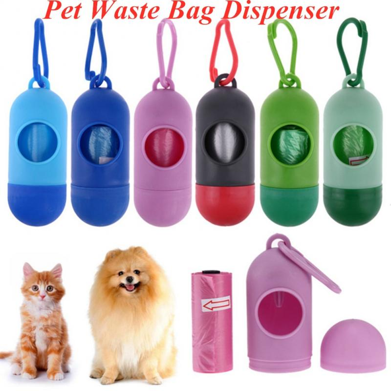 8-Color Pet Waste Bag Dispenser For Dog Poop Bags Bone Shape Plastic Pet Small Dog Outdoor Waste Poop Bag Excreta Cleaner
