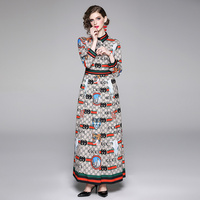 2019 New Autumn Stylish stiletto sleek positioning print dress 13