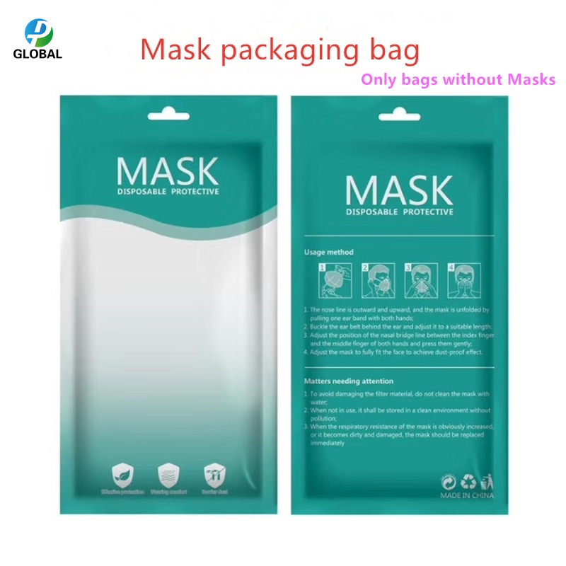 Image 4 - D&P Wholesale plastic packaging Bags With Hang Hole For disposable Mask Zipper Lock plasticPackage storage Bag For 3 Layers MaskStorage Bags   -