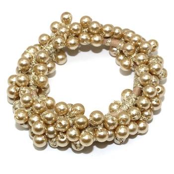 14 Colors Woman Elegant Pearl Hair Ties Beads Girls Scrunchies Rubber Bands Ponytail Holders Hair Accessories Elastic Hair Band 13
