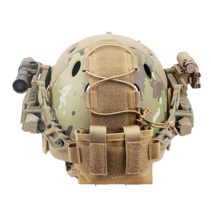 Tactical Helmet Battery Pouch MK2 Helmet Battery Pack Helmet Counterweight Pack Helmet Accessory For Survival Airsoft Hunting