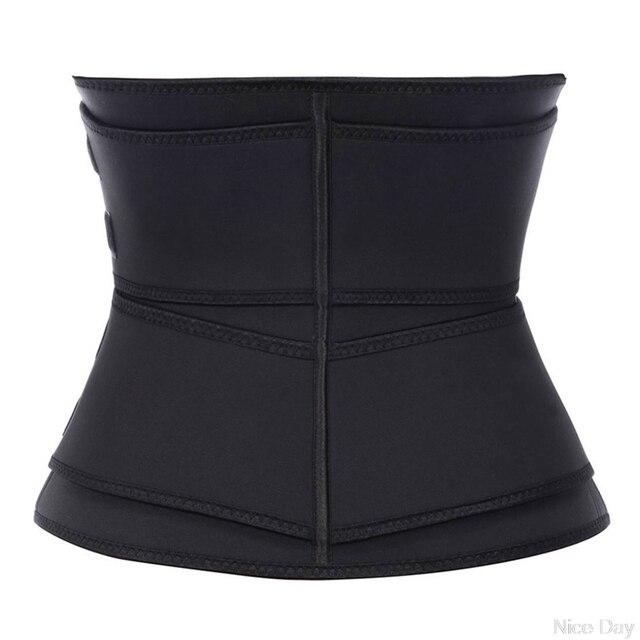 Steel Boned Waist Corset Trainer Sauna Sweat Sport Girdle Cintas Modeladora Lumbar Shaper Workout Trimmer Belt A17 20 Dropship 1