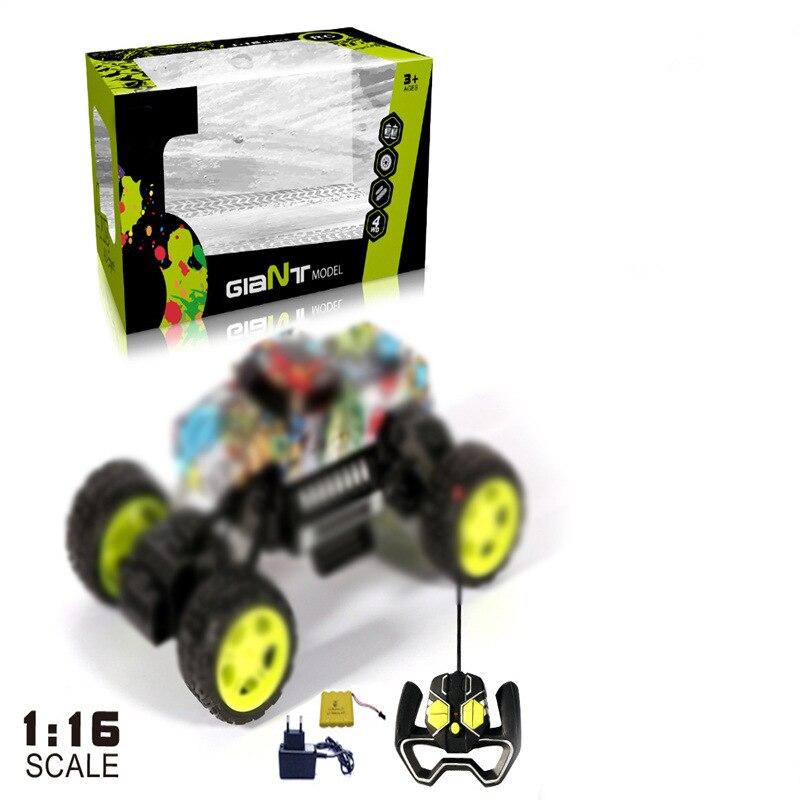 Children Graffiti Stone Electric Remote Control Toy Car 1: 16 Off-road Race Car Graffiti Climbing Toy Car