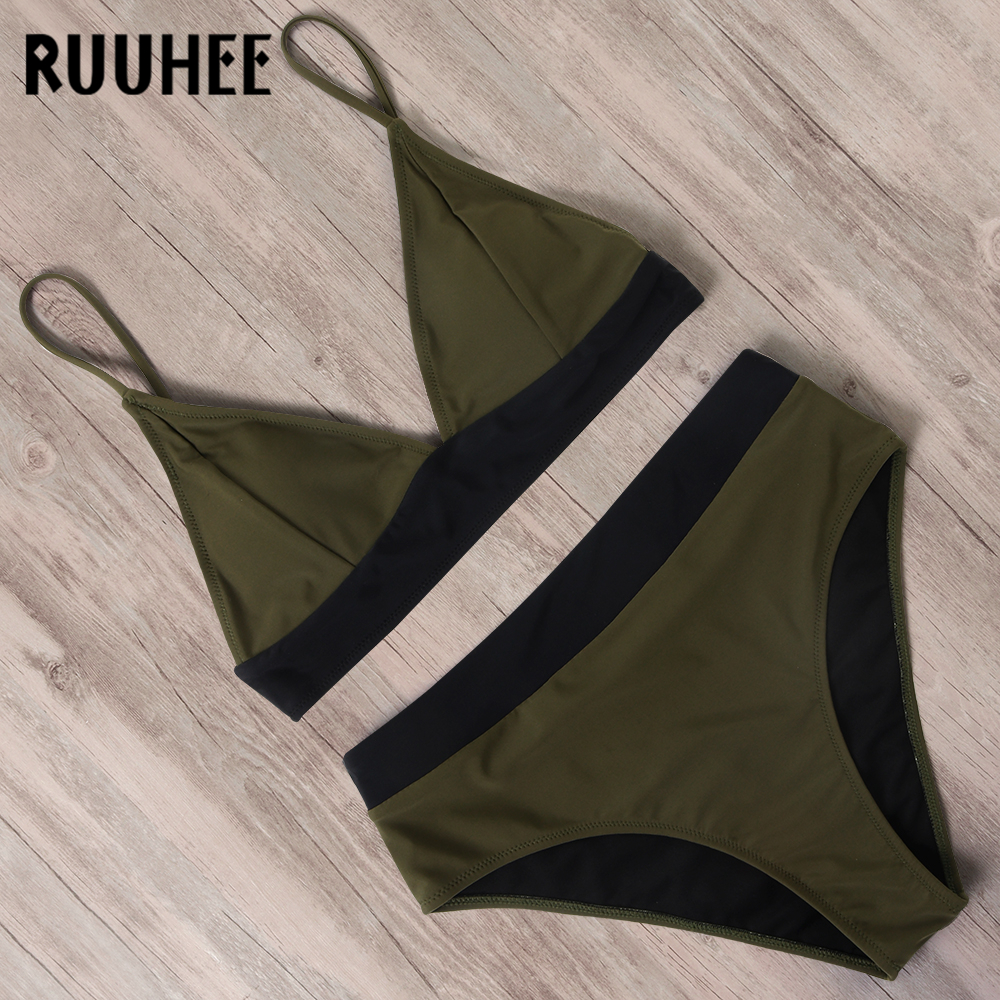 RUUHEE 2020 Sexy Bikini Swimwear Women Bikini Set Patchwork Bathing Suit Push Up Swimsuit Summer Beachwear Padded Biquini Female