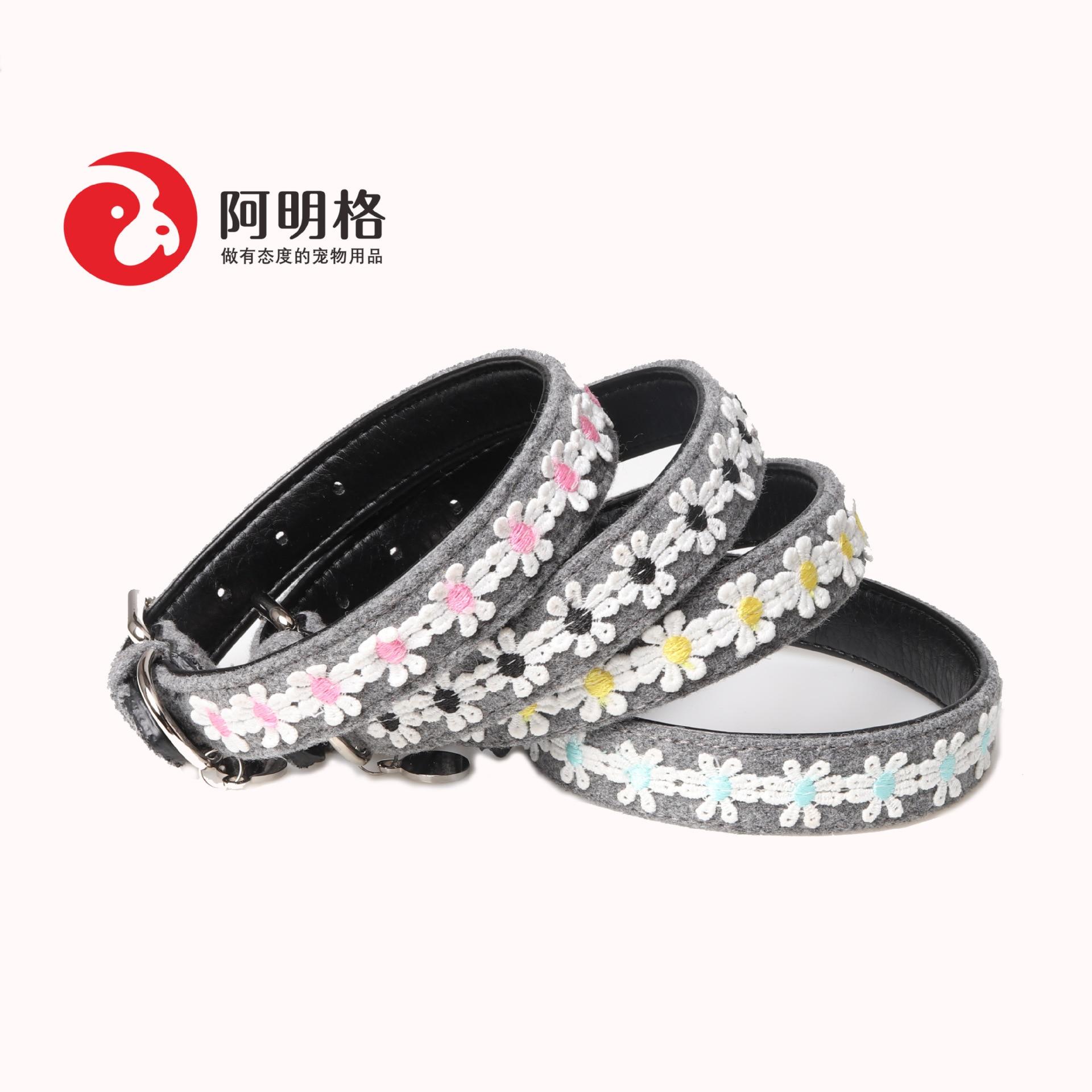 Jin Jie Te Embroidery Dog Neck Ring Cloth? Pet Collar Dog Supplies