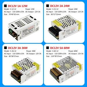 Image 3 - امدادات الطاقة DC12V 1A 2A 5A 8.3A 10A 15A 16.7A 20A 25A 30A 33A 40A 50A محولات الإضاءة LED سائق ل LED قطاع التبديل