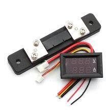 Цифровой вольтметр, амперметр постоянного тока 0-100 В, 50 А, двойной дисплей, детектор напряжения, стандартный индикатор напряжения, 0,28 дюйма, ...