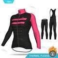 Комплект из Джерси для велоспорта ALEing  женская одежда с длинным рукавом  зимняя одежда для велоспорта  женский теплый флисовый комплект для ...
