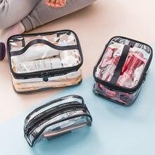 ПВХ женские прозрачные косметические сумки для хранения дорожный