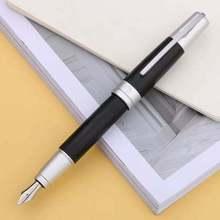 Pimio Aliminum Drawbench Fountain Pen Converter F Nib Black