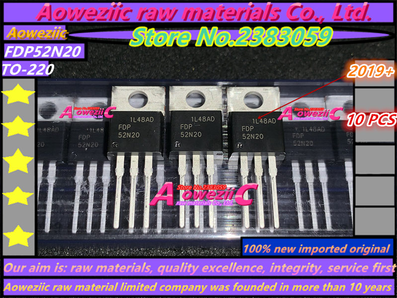 Aoweziic  2019+  100% New Imported Original  FDP52N20 52N20 TO-220 FET 52A 200V