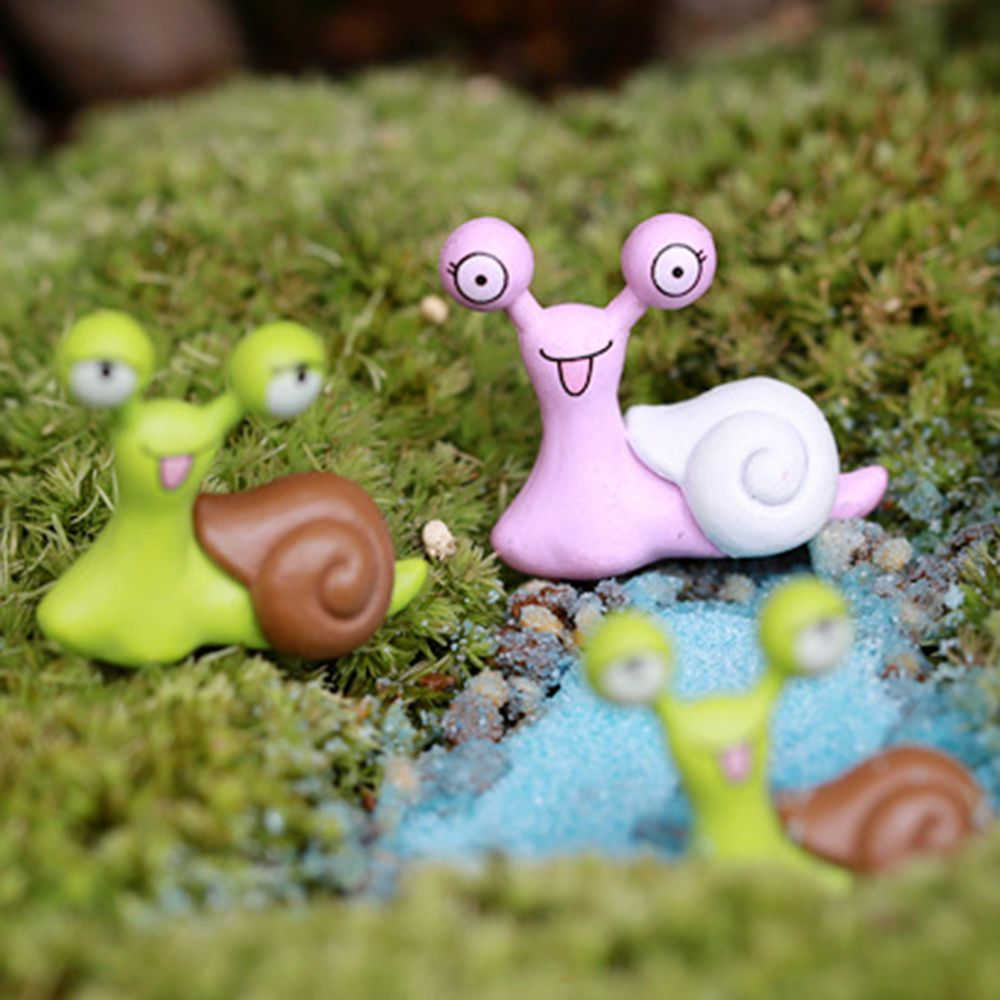 Hot 6 pcs Per Set Cute Cartoon Lazy Snails/Hedgehogs for Micro Landscape Home Garden Decor Mini Artificial Micro Landscaping