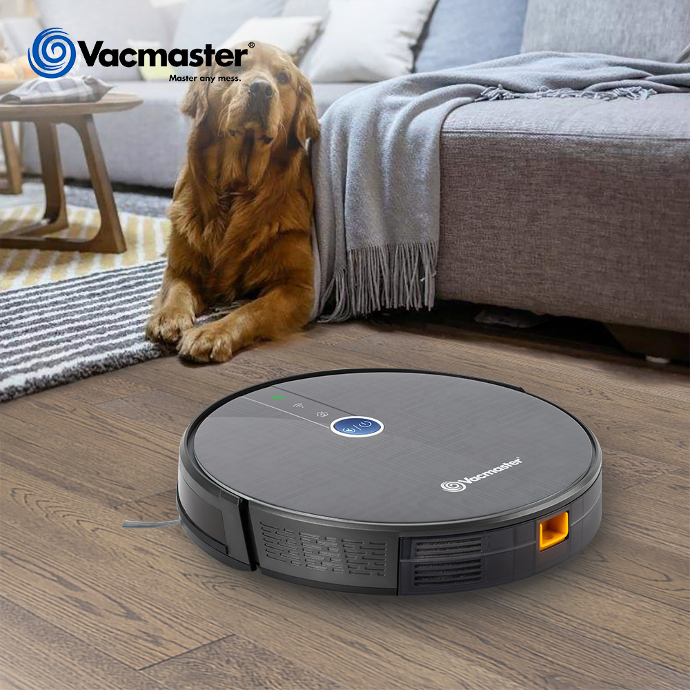 Vacmaster Robot Vacuum Cleaner 1800PA Powerful Suction Sweep&Wet Mop Navigation Planned Cleaning 0.5L Dustbin WIFI App Use