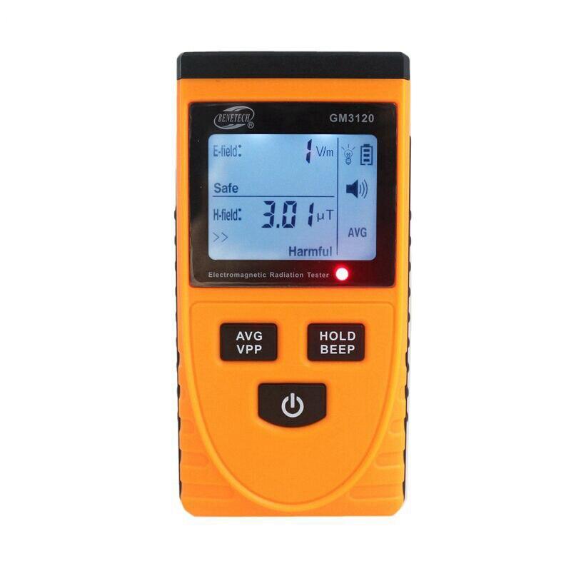 Detector de radiación electromagnética LCD GM3120, medidor de radiación, contador de dosímetro, medición para computadora, teléfono móvil