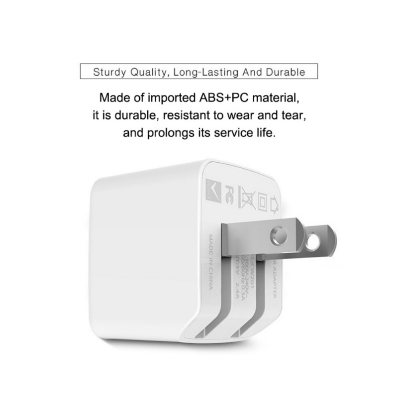 5V 2.4A Dual <font><b>USB</b></font> Ports Charger Folding Plug Charging Block <font><b>Power</b></font> <font><b>Adapter</b></font> image