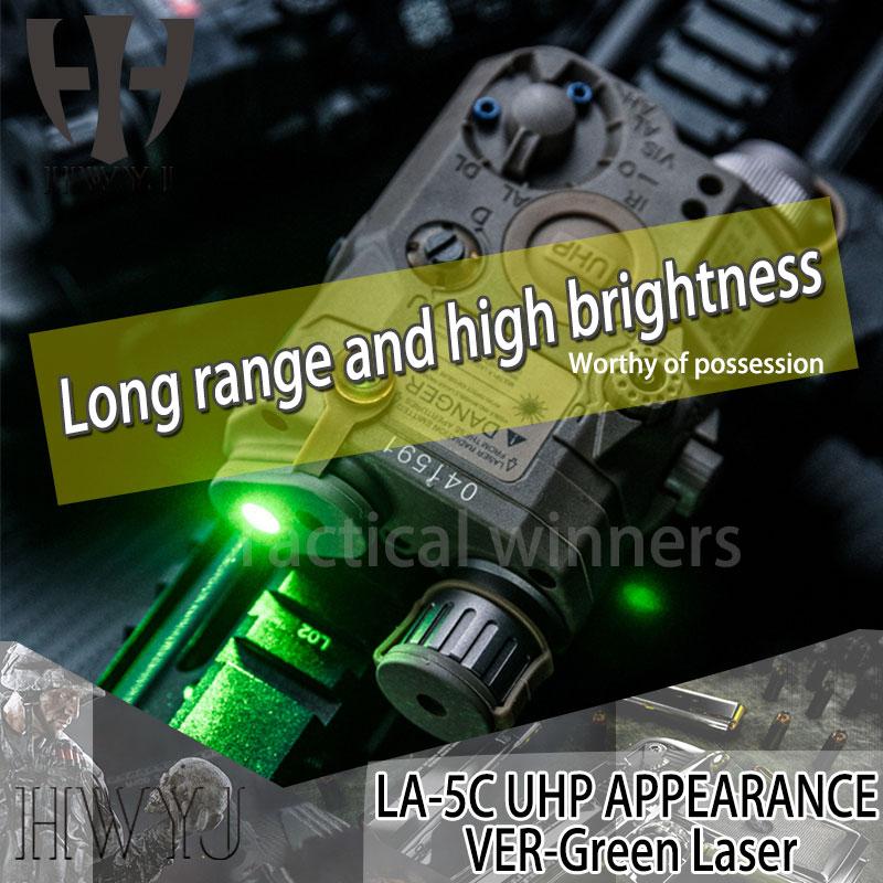 Élément Softair arme tactique Peq vert Laser une PEQ-15/LA-5C UHP lampe de poche avec LED IR vert PEQ15 feu de surface