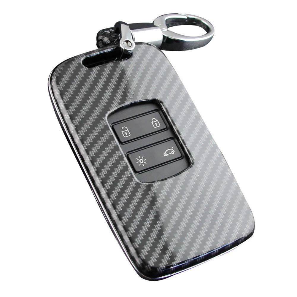 Image 4 - Car Key Case Fob Bag Holder ABS Hard Shell Cover Parts Fit For Renault Koleos 2017 2019 Kadjar Megane Car Key Accessories-in Key Case for Car from Automobiles & Motorcycles
