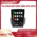 Ouchuangbo tesla Style Android 10,0 SC7862 для 12,1 дюймового Infiniti Q50 Q50L Q60s 2012-2019 автомобильный радиоприемник GPS navig видеоплеер 128 ГБ