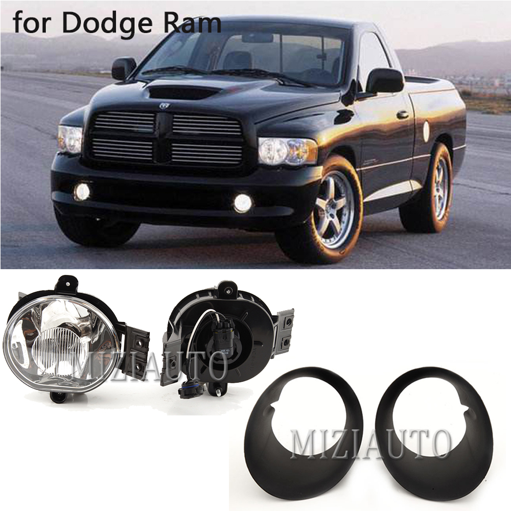 2002-2008 Dodge Ram 1500 03-09 2500 3500 Bumper Fog Lights Driving Lamps w//Bulbs