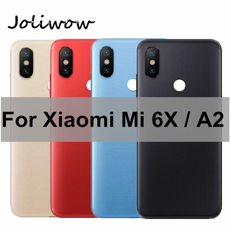 For <font><b>Xiaomi</b></font> <font><b>Mi</b></font> <font><b>A2</b></font> <font><b>Battery</b></font> Back <font><b>Cover</b></font> MiA2 Mi6X Rear Housing Metal Door for <font><b>Xiaomi</b></font> <font><b>Mi</b></font> 6X <font><b>Battery</b></font> <font><b>cover</b></font> +Power Volume Button image