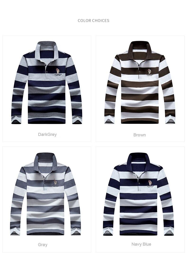 Men Polo Shirts 2020 New Arrival Autumn High Quality Embroidery Polo Shirt Casual Polo Shirts men's Long sleeve polo shirt polo