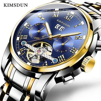 Luxury Brand Tourbillon Men Watch Top Quality Full Steel Automatic Mechanical Watches Men Dress Business WristWatches Man Montre