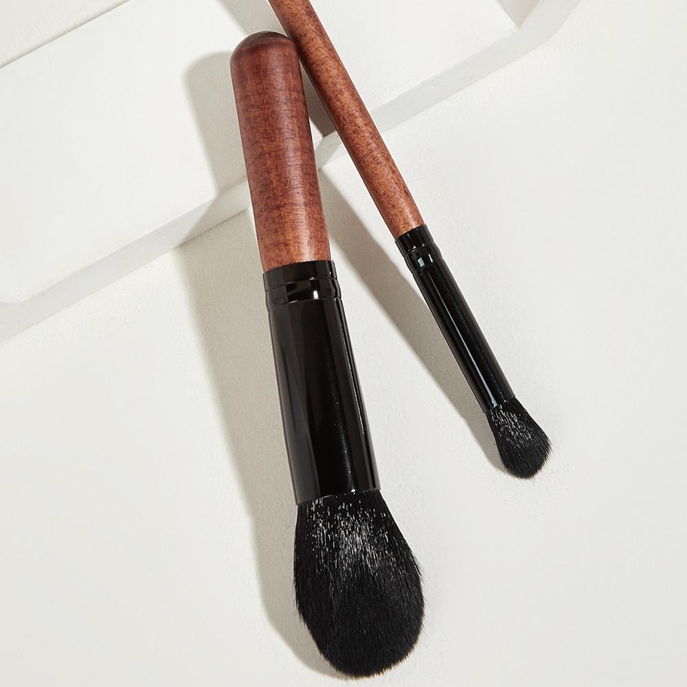 SAGAPO 2 pièces nouveau Blush maquillage brosse tête Oblique en aluminium fond de teint correcteur poudre libre professionnel visage beauté maquillage outil