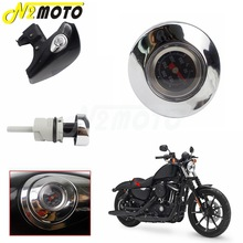 Black Face Motorbike Oil Tank Dipstick w/ Temperature Gauge For Harley Sportster 883 1200 XL Nightster Iron 48 Forty-Eight 72