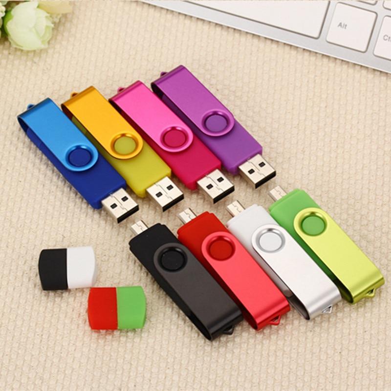 High Speed OTG USB Flash Drive Metal Pen Drive 8GB 16GB 32GB 64GB 128GB Smart Phone USB 2.0 Pendrive Micro USB Stick