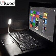 Litwod-Mini lampe lumineuse USB, Flexible à lumière LED degrés, lampe pour ordinateur portable, ordinateur portable, lecture de livres batterie externe